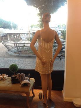 שמלת ערב פייטים בגזרה ישרה