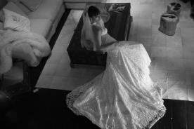 שמלת כלה תחרה מרשימה קלאסית