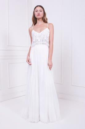 שמלת כלה לבנה בשני חלקים