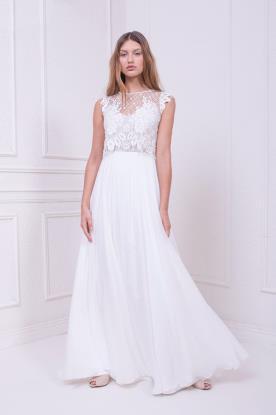 שמלת כלה עם טופ מתחרת רשת