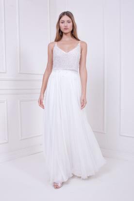 שמלת כלה עם טופ בגוון ורדרד