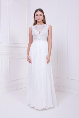 שמלת כלה בגזרת איי ליין גבוהה