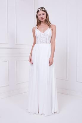 שמלת כלה עם טופ צמוד