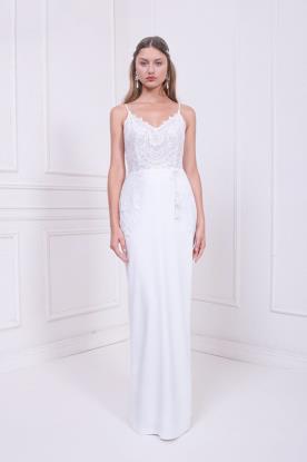 שמלת כלה עדינה עם חצאית סאטן