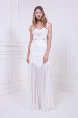 שמלת כלה בוהמיינית אוורירית