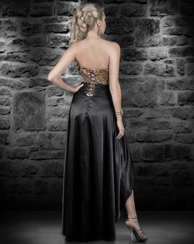 שמלת ערב שחורה בשילוב מחוך