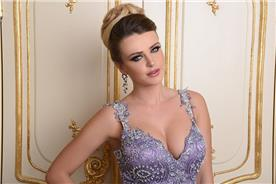 שמלת ערב מעוצבת בצבע סגול