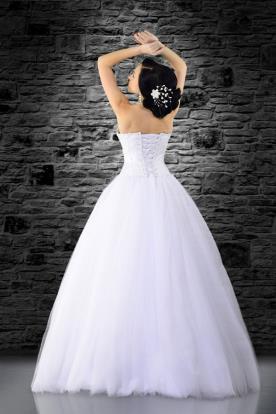 שמלת כלה עם מחוך וחצאית טול