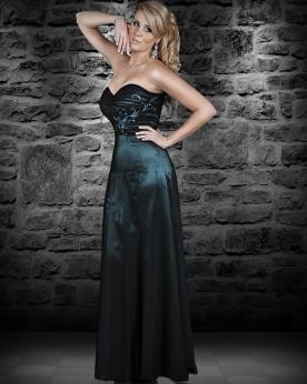 שמלת ערב סטרפלס מסאטן