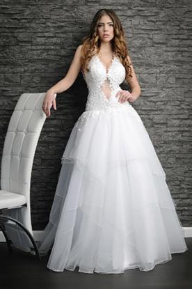 שמלת כלה נפוחה אסימטרית