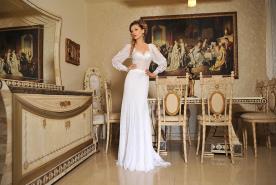 שמלת כלה ארוכה ורומנטית