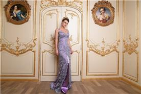 שמלת ערב ארוכה בסגול