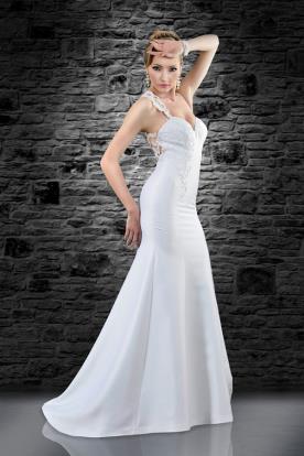 שמלת כלה עדינה עם מחשוף