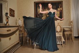 שמלת ערב נסיכותית בסגנון אלגנטי