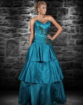 שמלת ערב מסאטן במבע מיוחד