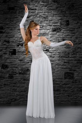 שמלת כלה תחרה שקופה באזור הבטן