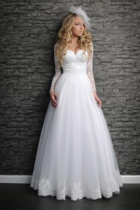 שמלת כלה חורפית בסגנון קלאסי