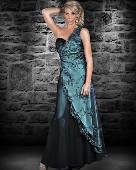 שמלת ערב אסימטרית אלגנטית