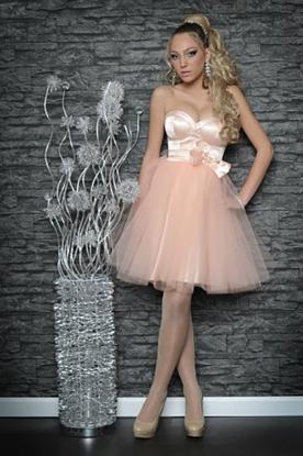 שמלת כלה קצרה בצבע ורוד