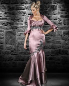 שמלת ערב בדגם בת ים בשילוב עליונית