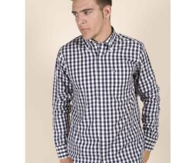 חולצה משובצת עם שרוול ארוך