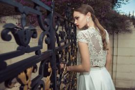 שמלת כלה בשני חלקים עם חולצת תחרה