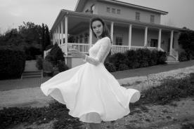 שמלת כלה מיני ושרוול ארוך