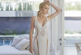 שמלת כלה חשופה עם בטנה