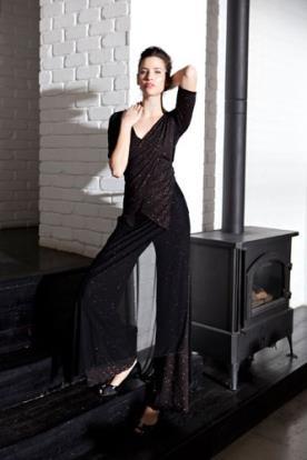 שמלת ערב אוברול נשפך מנצנץ