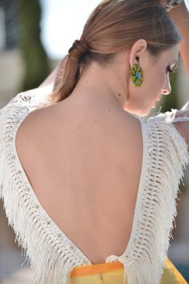 שמלת ערב בעיצובה של יעל פיק