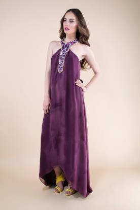 שמלת ערב חציל טיידיי