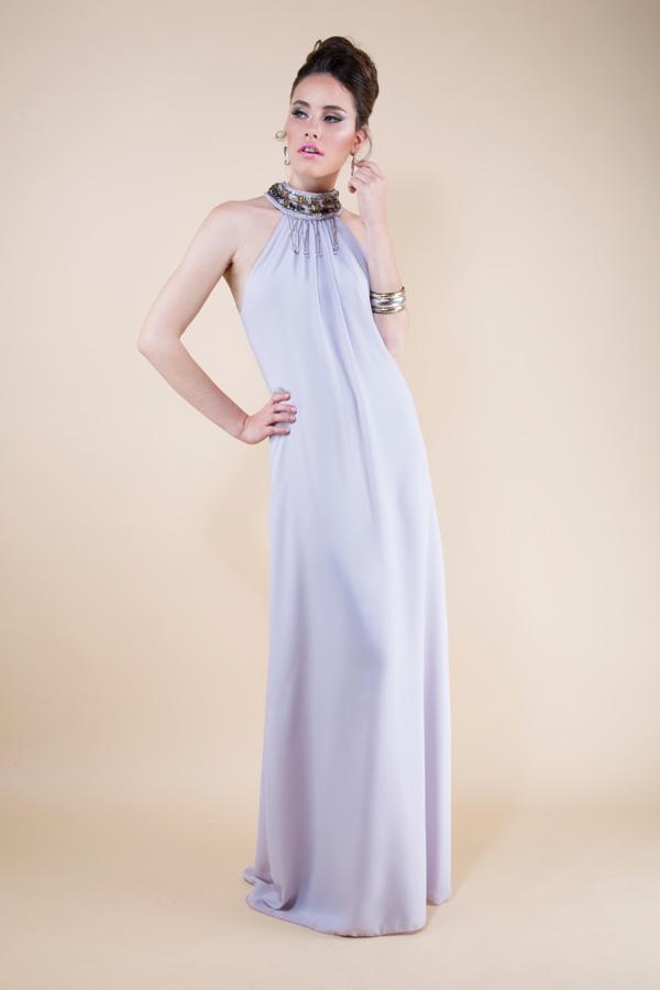 שמלת ערב מקסי בצבע לילך