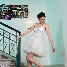 שמלת כלה קצרה עם חצאית טול