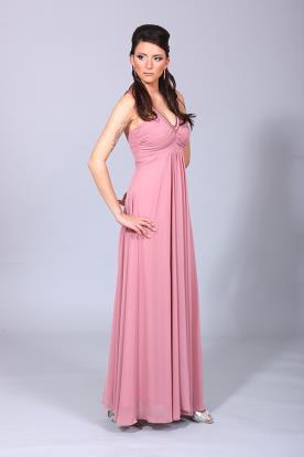 שמלת ערב גזרת A כיווצים