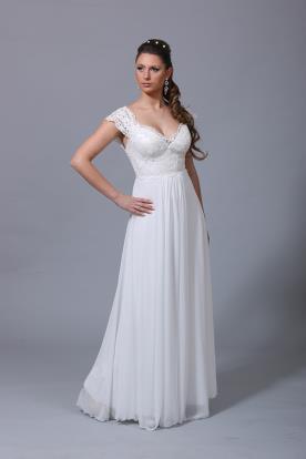שמלת כלה רומנטית כתפיות