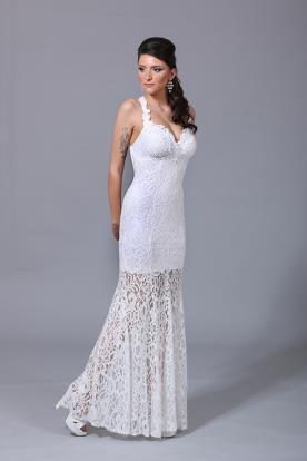 שמלת כלה תחרה מיוחדת מעוצבת