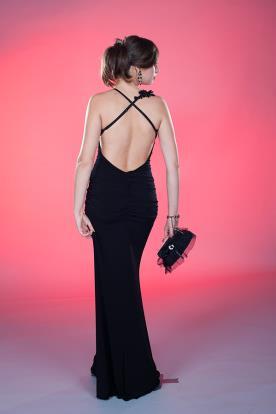 שמלת ערב קלאסית שחורה