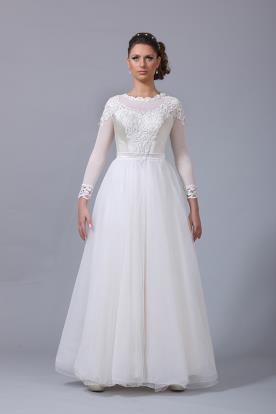 שמלת כלה חולצה מעוצבת נפוחה