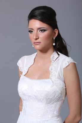 שמלת כלה תוספת שרוול קצר