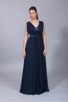 שמלת ערב כחולה אלגנטית