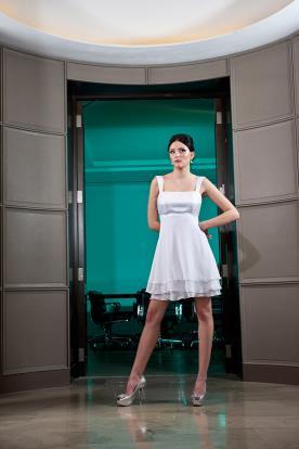 שמלת כלה מיני סאטן