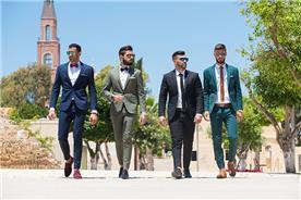 חליפת חתן: חליפה בצבע ירוק, חליפת שני חלקים, חליפה בגזרת סקיני, חליפה בדוגמה חלקה, חליפה בצבע שחור, חליפה בצבע כחול - דניאל שלו-חליפות חתן