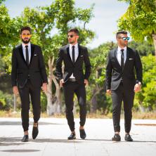חליפות חתן בשחור ולבן