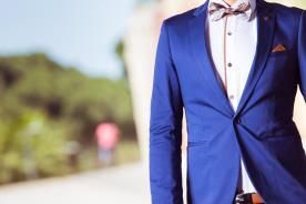 חליפת חתן- בלייזר בצבע כחול רויאל