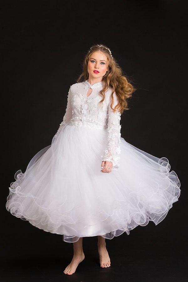 שמלת כלה טול מסולסל
