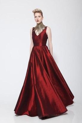 שמלת ערב מקסי בורדו