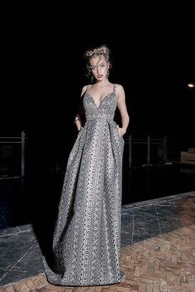 שמלת ערב מקסי כסופה