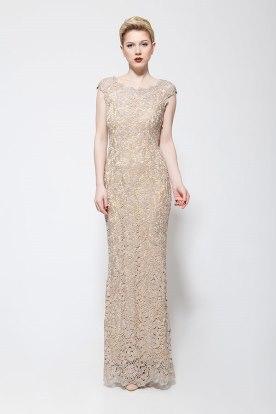 שמלת ערב תחרה צמודה