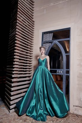 שמלת ערב בצבע טורקיז