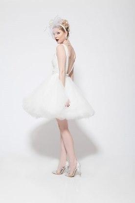 שמלת כלה מיני נפוחה